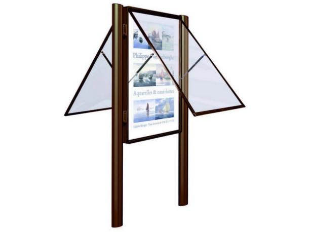 Vitrine exté. double face plexichocs H 1710 x 1350 mm