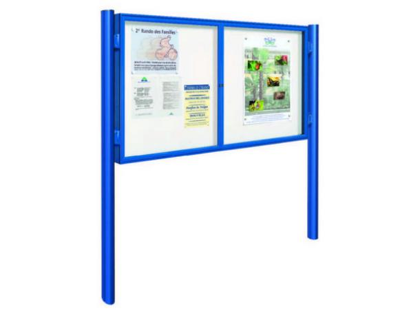 Vitrine à double battant plexichocs H 1050 x 1800 mm