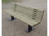 Banc BOSTON pin naturel