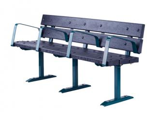 Banc GRAND CONFORT Plastique 4 accoudoirs