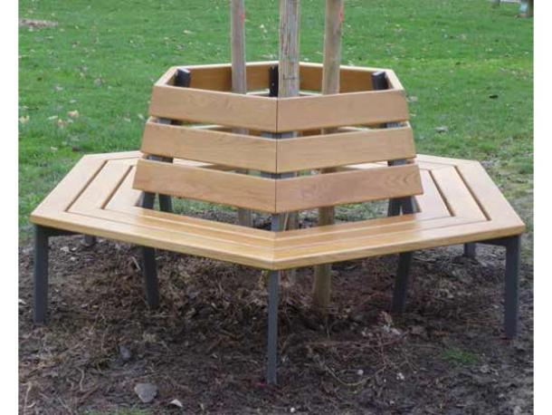 Banc Entourage d'Arbre HEXAGONAL